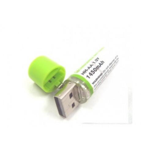 176978 Microbattery Şarjlı Kalem [AA] Pil 1450 mAh USB